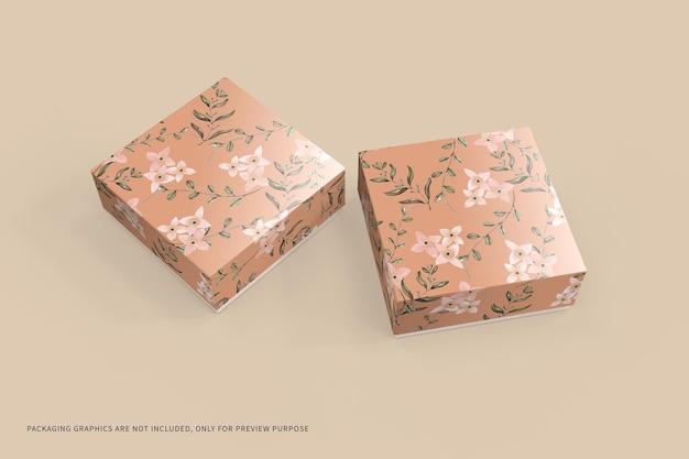 Mockup di imballaggio scatola quadrata