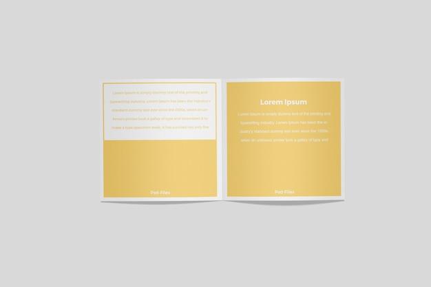 Brochure quadrata bifold mockup 3