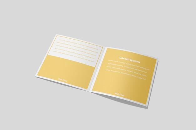 Brochure quadrata bifold mockup 4