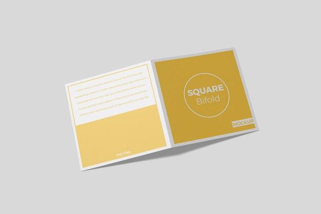 Brochure quadrata bifold mockup 7