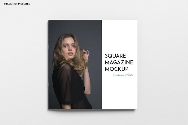 Brochure quadrata e copertina del catalogo mockup