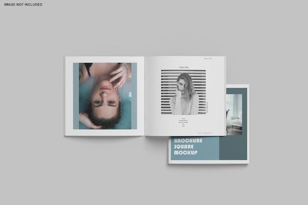 Brochure quadrata e mockup di catalogo isolato