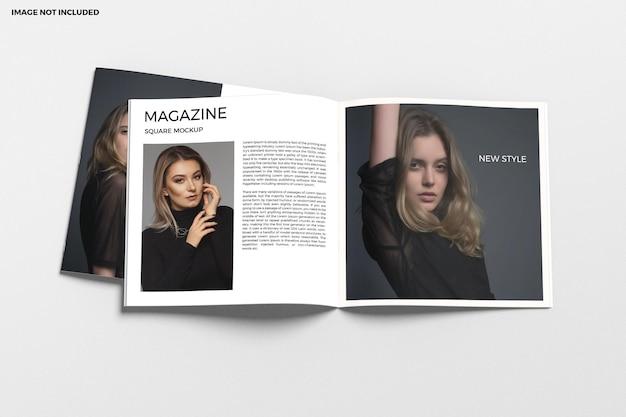 Brochure quadrata e mockup del catalogo