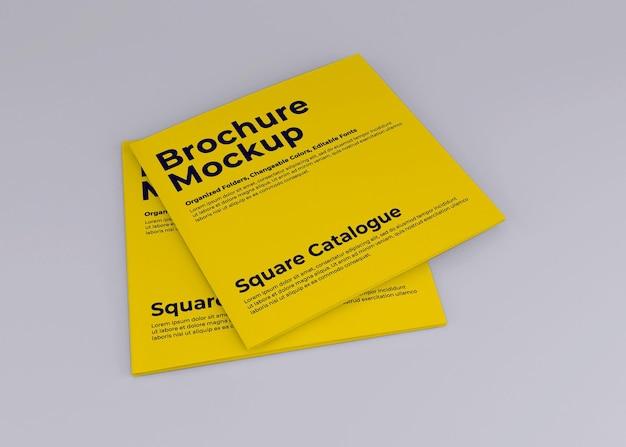 Mockup di diario brochure quadrato