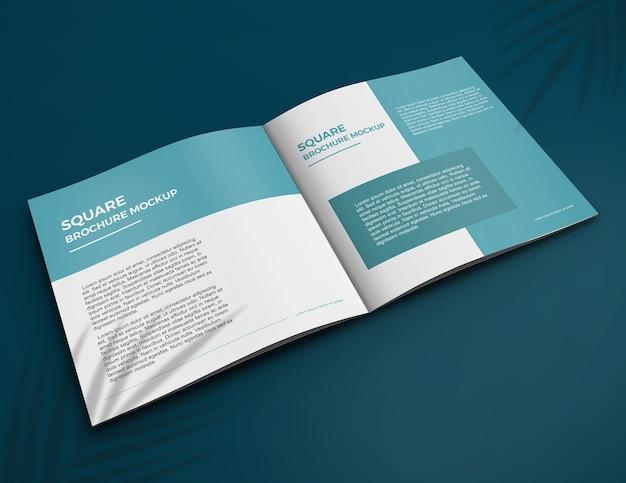 Mockup di brochure quadrata
