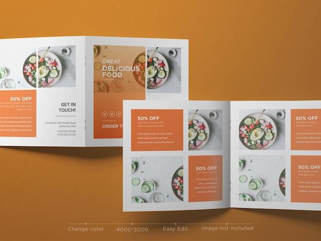Modello di brochure quadrata