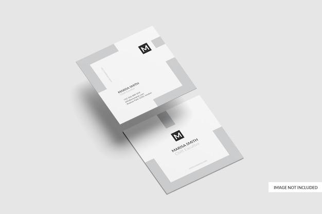 Design mockup di biglietto da visita quadrato