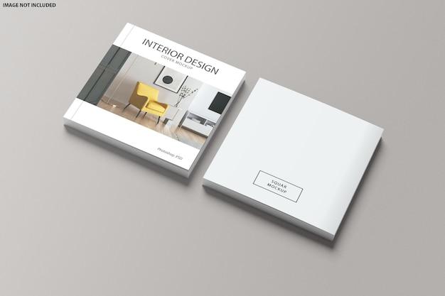 Mockup di copertina del catalogo quadrato