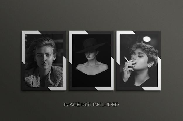 Mockup di cornice di carta per pellicola quadrata photoshop