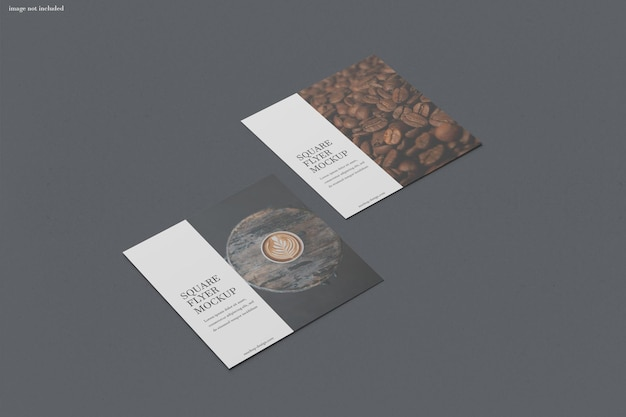 Rendering isolato mockup quadrato flyer