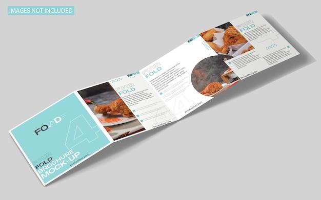 Mockup di brochure quadrupla quadrata