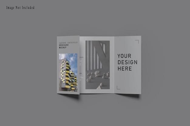 Mockup di brochure quadrato gatefold