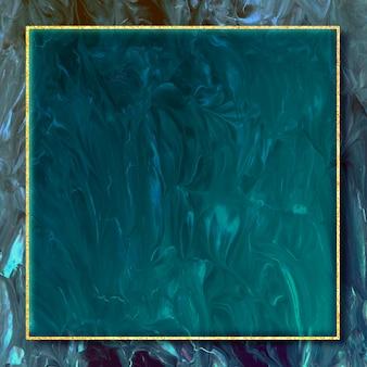 Cornice quadrata in oro su sfondo astratto illustrazione