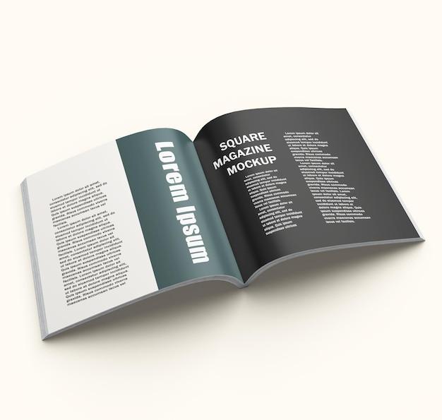 Design mockup copertina di una rivista quadrata