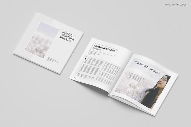 Design mockup rivista quadrata