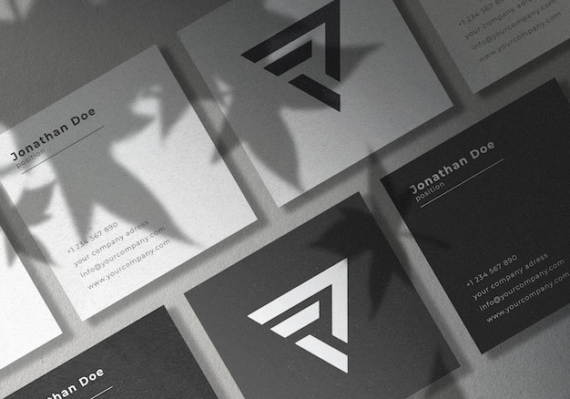 Design mockup di carta di nome quadrato con quadrato