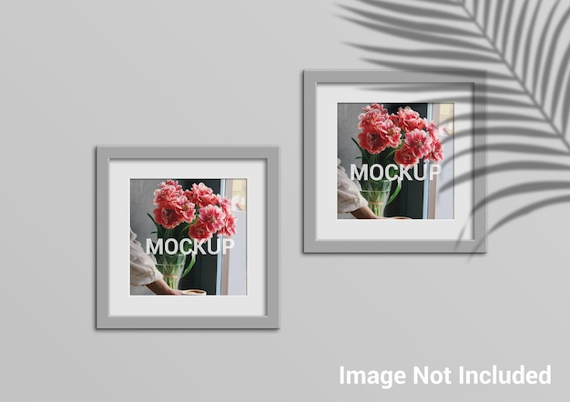 Mockup di cornici per foto quadrate