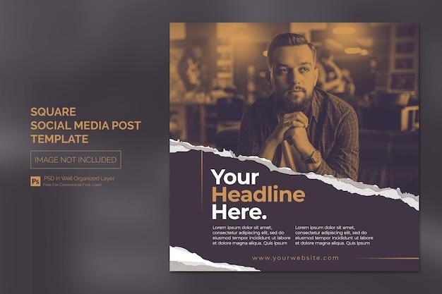 Piazza social media instagram post o modello di banner web con concetto di design di titolo