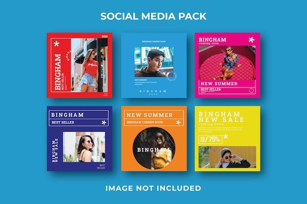 Modello quadrato post instagram social media