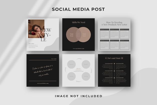 Modello quadrato di social media post instagram