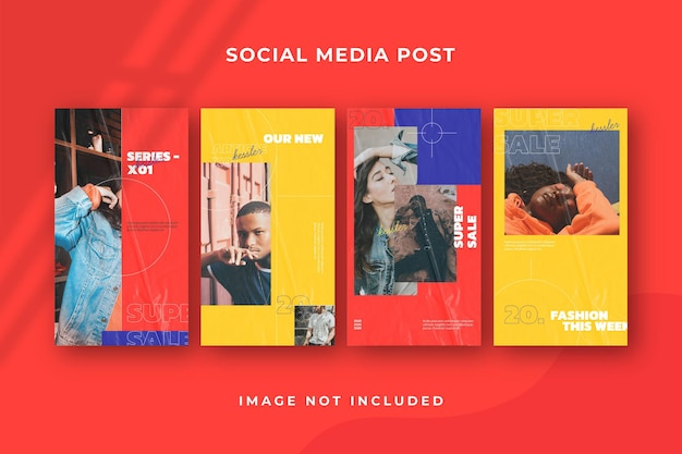 Modello quadrato di social media story instagram psd