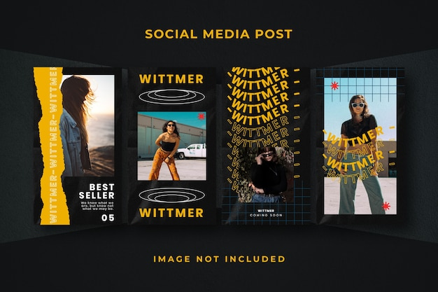 Modello quadrato di instagram per storie di social media