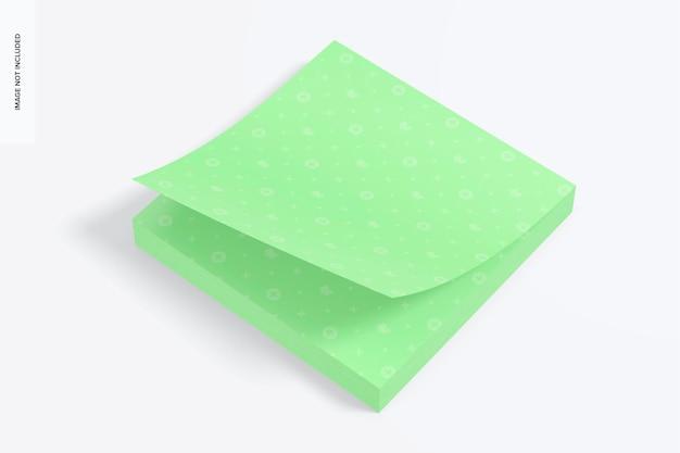 Mockup di foglietti adesivi quadrati