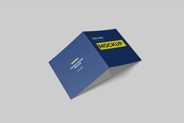 Mockup di brochure a tre ante quadrato