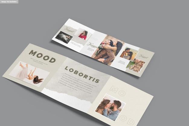 Mockup di brochure a tre ante quadrate