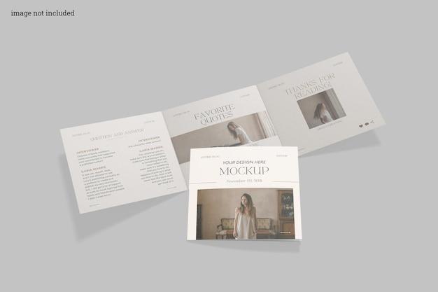 Modello di brochure a tre ante quadrato