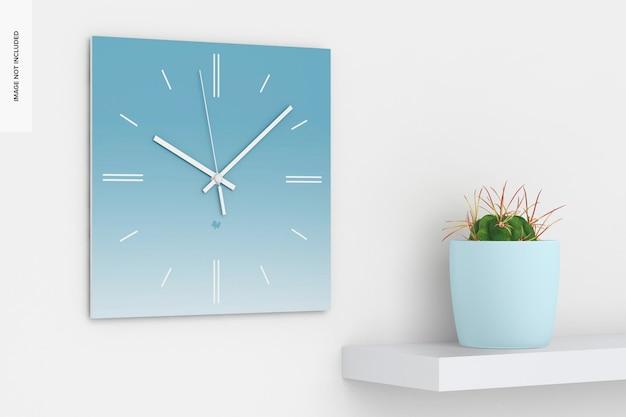 Mockup di orologio da parete quadrato