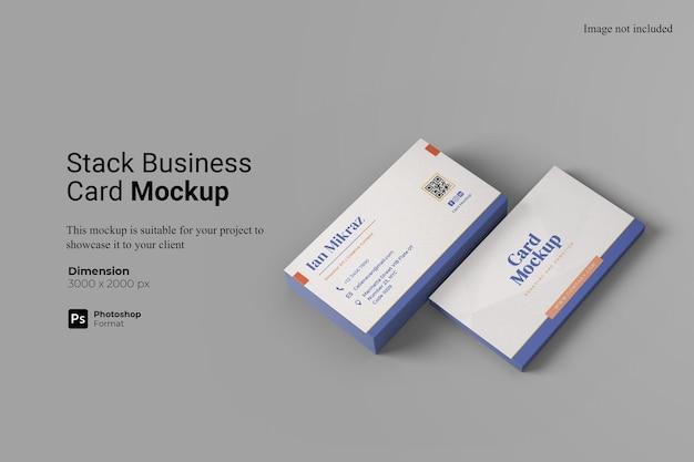 Stack business card mockup design isolato