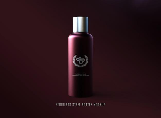 Mockup del logo della bottiglia in acciaio inossidabile