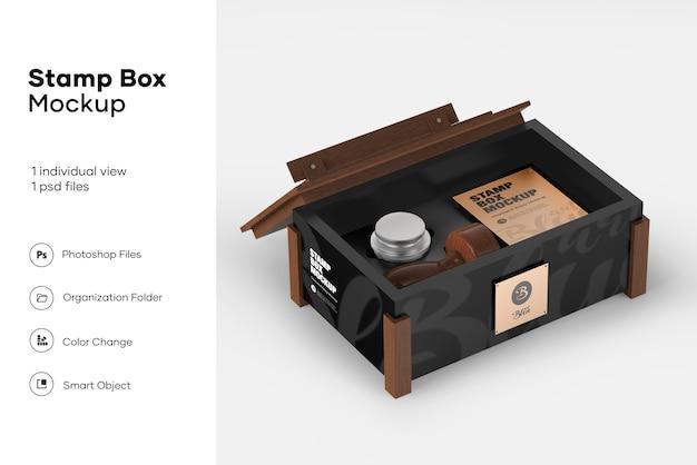 Mockup scatola di francobolli