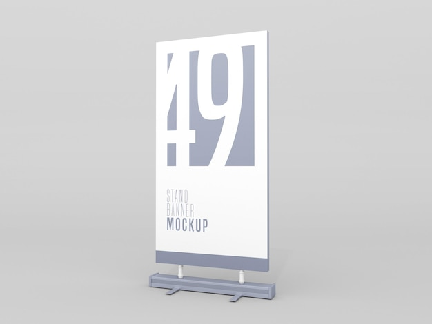 Stand banner psd mockup