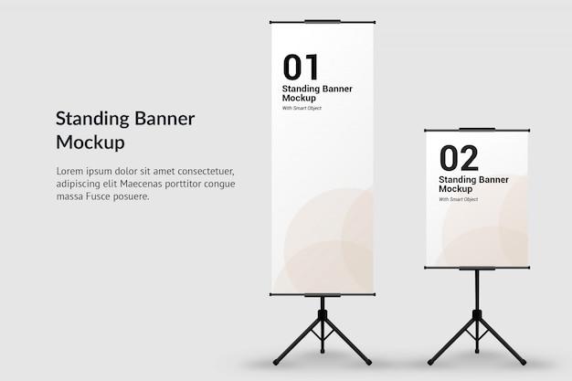 Mockup banner in piedi con il testo