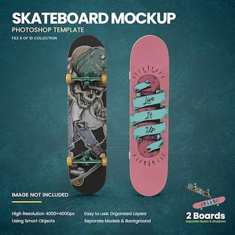 Mockup di skateboard in piedi