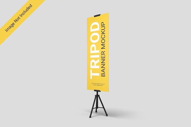 In piedi treppiede banner mockup design isolato