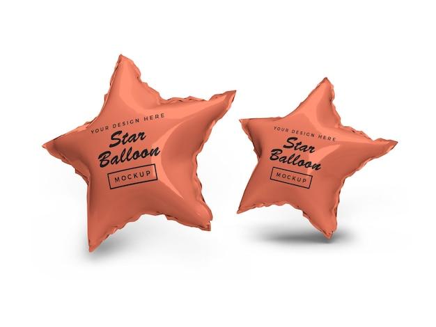 Mockup 3d di palloncino stagnola stella