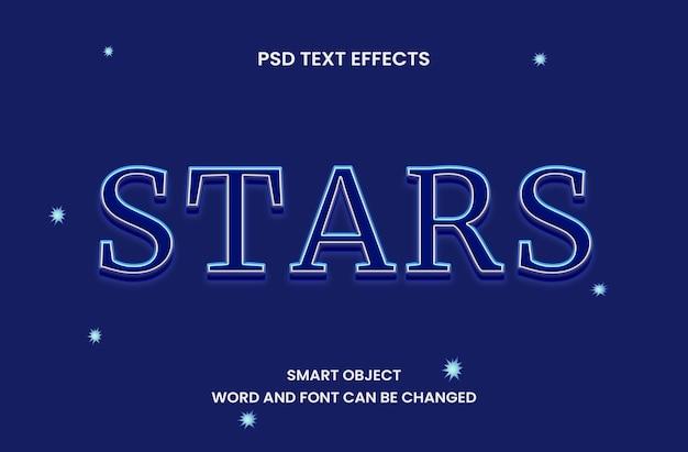 Effetto testo stelle con colore notturno