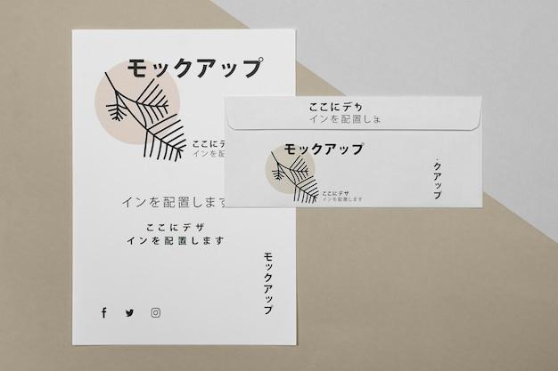 Documenti di cancelleria con logo mock-up Psd Premium