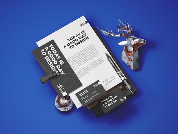 Modello di mockup di cancelleria Psd Premium