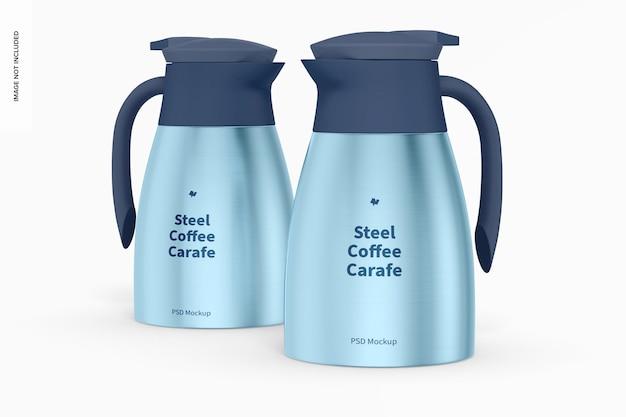 Mockup di caraffe da caffè in acciaio