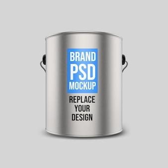 Progettazione di mockup di rendering 3d serbatoio d'acciaio