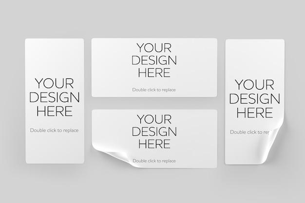 Design mockup di adesivi