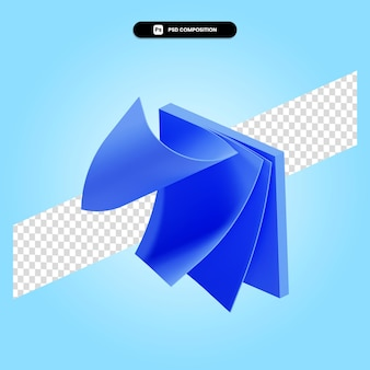 Le note appiccicose 3d rendono l'illustrazione isolata