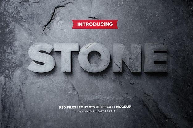 Effetto di testo premium 3d di pietra Psd Premium