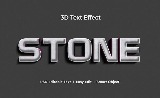 Modello di mockup effetto testo 3d in pietra