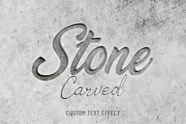 Effetto di testo 3d scolpito nella pietra