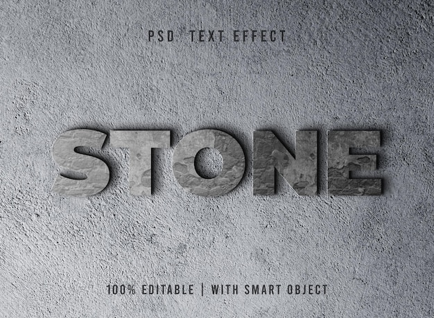 Effetto testo pietra modificabile